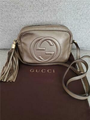 4b768ba57bb GUCCI SOHO DISCO Crossbody Shoulder Purse Bag Light Gold -  545.00 ...