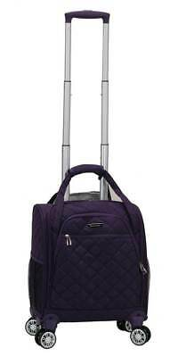 Wheeled Underseat Carry On Luggage Spinner in Purple [ID 3759020]