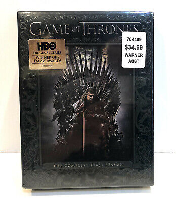 Game of Thrones Complete Season 1 5 DVDs NEW SHRINKWRAPPED FAST SHIP