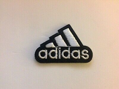 "2"" ADIDAS CLASSIC BLACK/WHITE LOGO Embroidered Iron On/Sew On Patch USA SELLER"