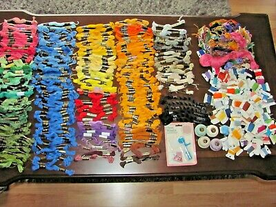 Huge Lot Of Embroidery Floss Thread, Perle Cotton~New Floss Winder & More