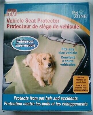 Pet Zone Vehicle Seat Cover Waterproof Protects From Hair Accident Dust Dirt