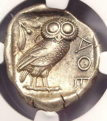 Ancient Athens Greece Athena Owl Tetradrachm Coin (440-404 BC) - NGC XF!