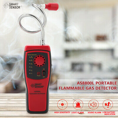 AS8800L Combustible Gas Detector Methane Ethane Natural Gas Leak Analyzer Tester