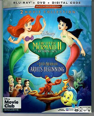 The Little Mermaid II/Ariel's Beginning (2019, Blu-ray/DVD, Disney Movie Club)