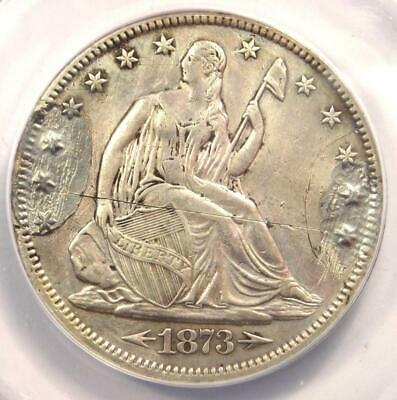 1873-CC Arrows Seated Liberty Half Dollar 50C - ANACS XF40 Details (Ex-Jewelry)!