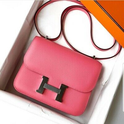 55cfdd9059 Hermes Mini Constance III 18cm Rose Azalee PHW Brand New 100% Authentic