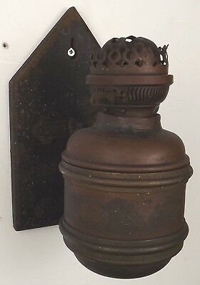 Antique Victorian Wall Bracket Oil Lamp Duplex Burner Aesthetic Style, Needs TLC