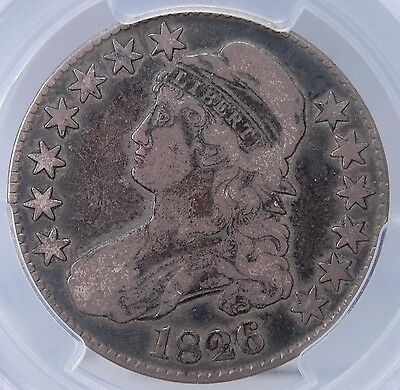 1826 Capped Bust Half Dollar Pcgs Vf20 Nice &Original With A Great Circ Cam Look