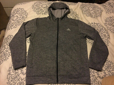 fed377ef47c1 ADIDAS CLIMAWARM ULTIMATE Hoodie Pullover Burgundy Red Gray - Men s ...