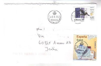 8945- Spain, Espana, Michel 4317+4337 on cover to Italy -