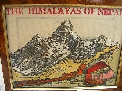 5 framed PRINTS? on HANDMADE PAPER of the HIMALAYAS