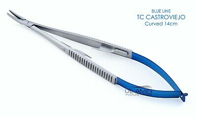 "1pc TC Castroviejo Needle Holder 5.5"" Curved Plier Dental Surgical Instrument CE"