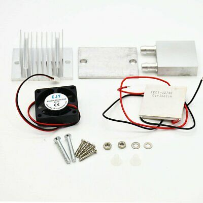 Diy Kit Thermoelectric Peltier Refrigeration Cooling System Power Fan Tec1 WQ