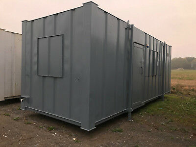 Portable cabin 24ft by 9ft Anti vandal Steel Building Site Office Store