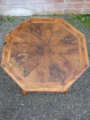 Victorian antique Grand Tour Jerusalem olive wood octagon occasional side table