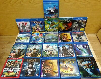 Job Lot Bundle Collection of Various Titles Blu-Ray 3D Movies Films #11642