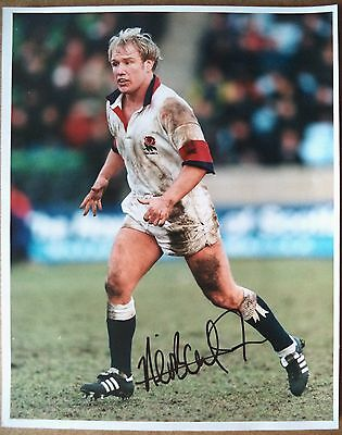 Neil Back – 1997 England Rugby Union Autographed Colour Photograph