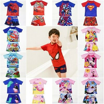running shoes factory authentic designer fashion KID BOYS GIRLS Bathing Suit Swimming Top+Shorts Suit ...