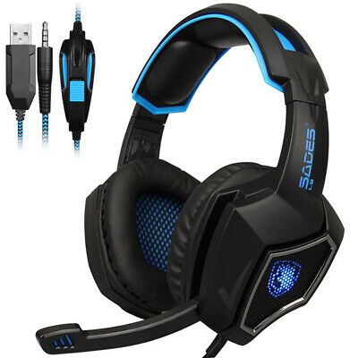 SADES New Spirit Wolf L9 USB 3.5mm 7.1 Surround Sound Stereo Gaming Headset Mic