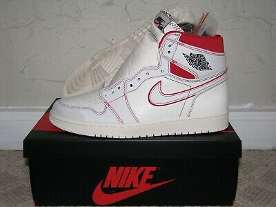faf3eb52008 Nike Air Jordan 1 Retro High OG Phantom Sail / Red Mens Size 9.5 DS NEW