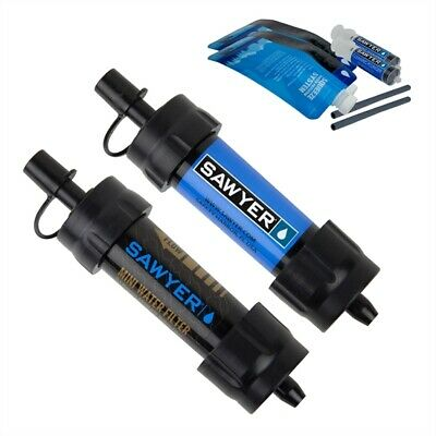 Sawyer Mini Water Filtration System Twin Pack, Blue/Black