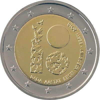 ESTONIA - 2 € Euro commemorative coin 2018 - Republic of Estonia 100 UNC
