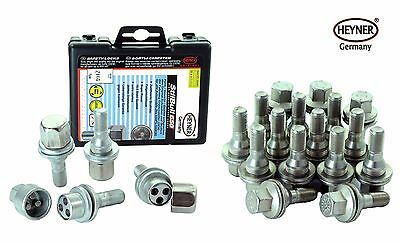 Peugeot 207 HEYNER Ultimate wheel locking bolts + 16 standard (M12x1,25) alloys