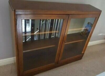 Bookcase antique vintage glass fronted