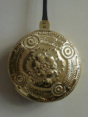 Fine 18th century style brass and steel warming pan by Pearson Page c1920