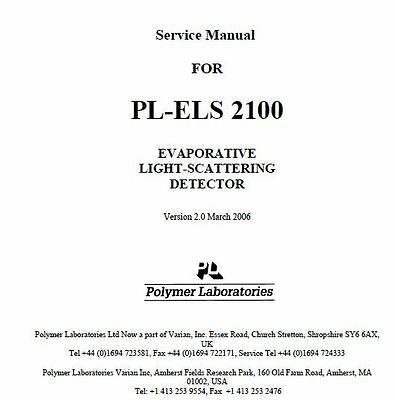 PL-ELS 2100 EVAPORATIVE LIGHT-SCATTERING DETECTOR   Service Manual