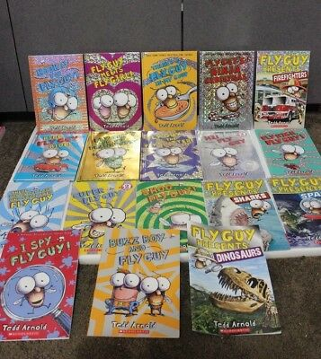 huge lot 18 Fly Guy Tedd Arnold Scholastic Readers Children Series Books VGC