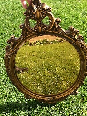 Gomme gilt framed oval mirror 1950's -Collect only S35