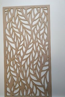 Radiator Cabinet Decorative Screening Perforated 3mm & 6mm thick MDF laser cutL4