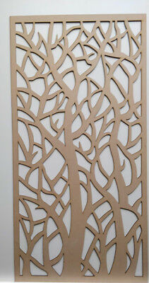 Radiator Cabinet Decorative Screening Perforated 3mm & 6mm thick MDF laser cutD1