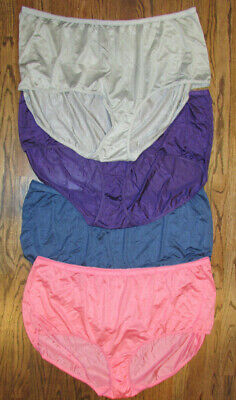 f912ee274 4 COMFORT CHOICE Lot of New Panties Briefs Size 15 Pink Blue Purple Gray  Nylon