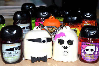 Bath Body Works POCKETBAC HOLDERS & Hand Gels HALLOWEEN GHOST  MUMMY HIS & HERS