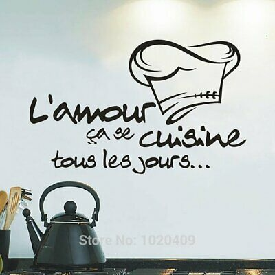 Personality Chef Hat Wall Sticker Kitchen Dining Room Home Removable DIY Decal@@