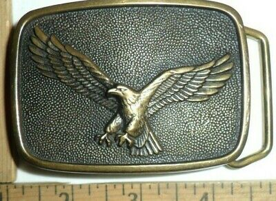 EAGLE w/Talons & spread Wings SOLID BRASS  belt buckle USA  made