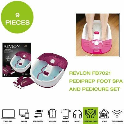 *Brand New* Revlon FB7021 Pediprep Foot Spa and Pedicure Set - White/Pink