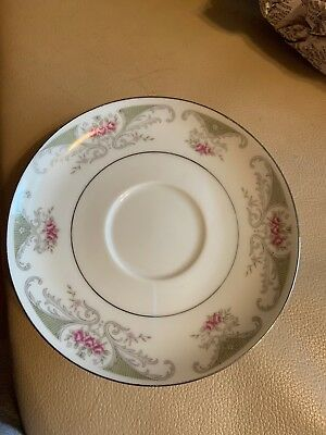 Four Saucers By Alberon Translucent Fine China Made In Japan