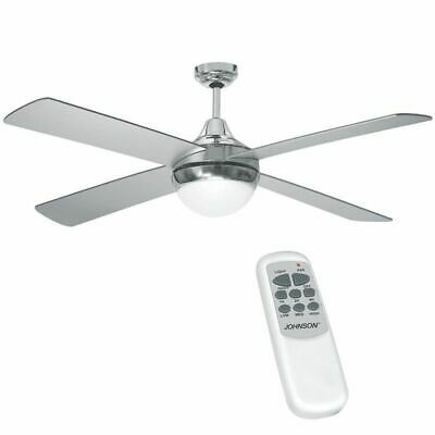 Ventilatore a soffitto Maree Johnson con luce telecomando 4 pale 132 cm mshop