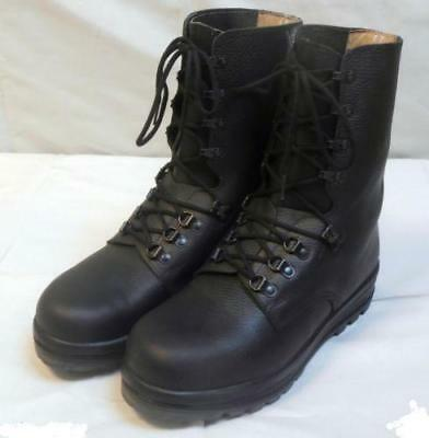 d124776d2a0f5 VINTAGE SWISS GERMAN Mens Leather Ankle Boots Military Riding Combat ...