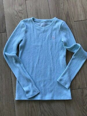 Abercrombie Fitch Girls Jumper age 11/12 Mint Green/Blue