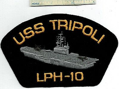New USS TRIPOLI LPH-10 Hat Patch Helicopter Carrier Ship US Navy USN U.S.S. #2