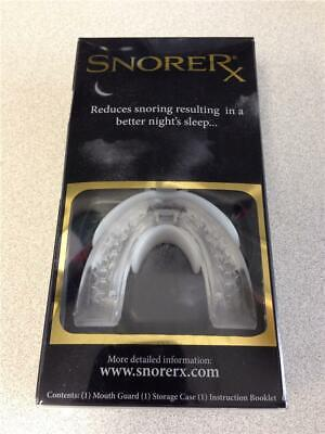 NEW! SnoreRx Anti-Snore Oral Appliance Mouth Piece Guard Stop Snoring