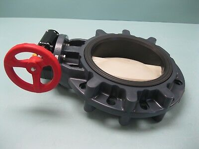 "10"" Asahi/America PVC Butterfly Valve Type 57 Gear-Operated NEW C10 (2410)"