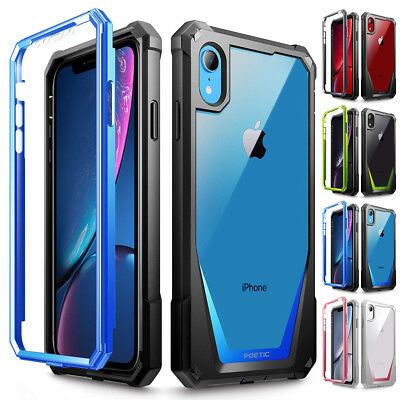 For Apple iPhone XR Poetic Guardian w/ Built-in-Screen Protector Full-Body Case