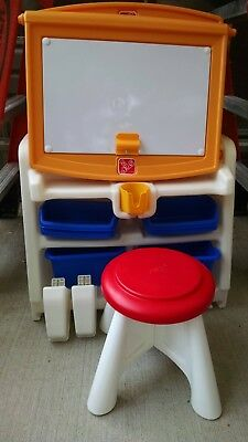Brilliant Step2 Flip Doodle Easel Desk With Stool Plenty Of Storage Caraccident5 Cool Chair Designs And Ideas Caraccident5Info