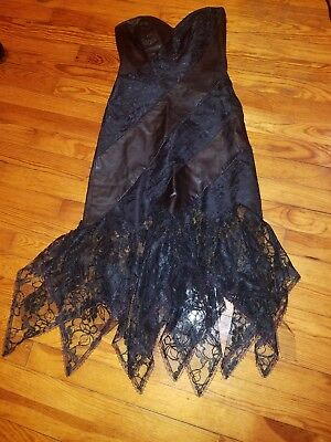 4ba241879e For David Howard Climax Karen Okada Lace Vintage Tube Dress Black Size Sz  5 6